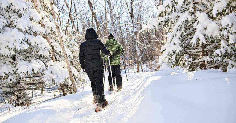 A couple hikes through the snow.