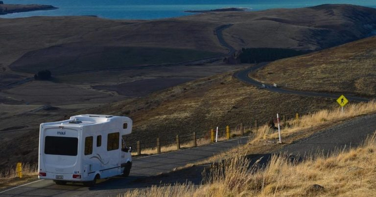 An RV on the open road